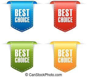 mieux, choix, rubans