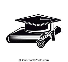mieux, conception, classe, remise de diplomes