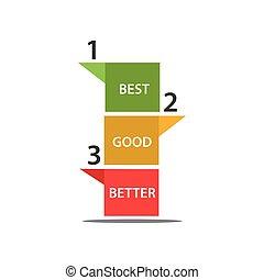 mieux, nombre, illustration, vecteur, bon, mieux, icône