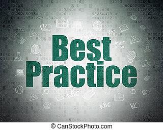 mieux, papier, concept:, fond, numérique, pratique, données, education