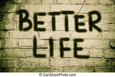 mieux, vie, concept