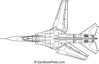 Mig 23 mf - High detailed vector illustration of a modern...