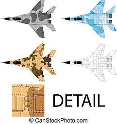 Mig 29 - High detailed vector illustration of a modern ...