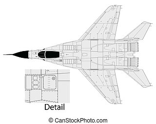 Mig 29 - High detailed vector illustration of a modern...