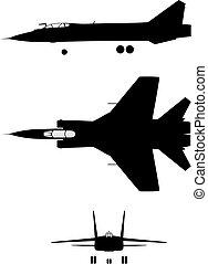 MIG-31 - Silhouette of jet-fighter MIG-31