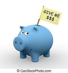 mig, dollare, giv