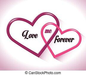 mig, för alltid, kärlek, två hjärtan, samman flatt