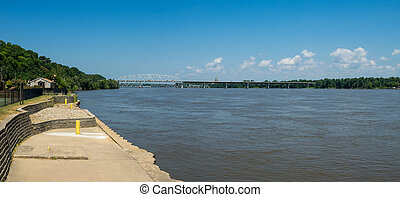 Mighty Mississippi River - A panorama of the mighty...