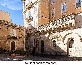 Migliaccio Palace, Ortigia - View of the Migliaccio Palace...