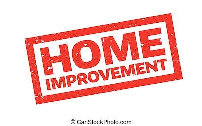 miglioramento, francobollo, gomma, casa