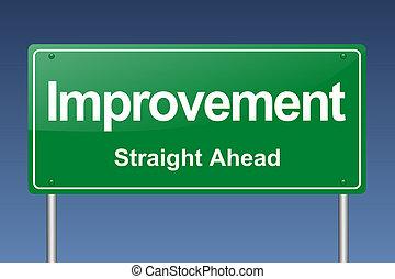 miglioramento, segnale stradale