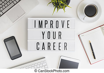 migliorare, tuo, carriera, concetto