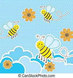 mignon, abeilles