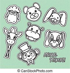 mignon, animal, carte