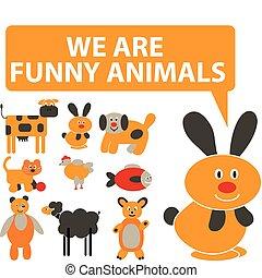 mignon, animaux, signes