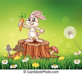 Mignon carotte lapin tenue mignon illustration - Arbre a carotte ...
