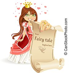 mignon, bannière, princesse