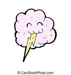 mignon, boulon, nuage, éclair