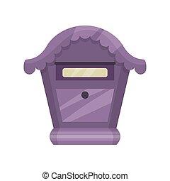 mignon, box., lettres, newspapers., plat, pourpre, vendange...