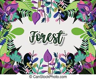 mignon, cadre, forêt