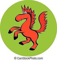 mignon, cheval, eps, vecteur, sourire, dessin animé, mascotte