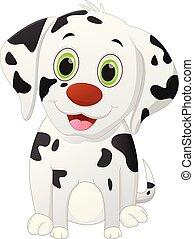 mignon, chien, dessin animé