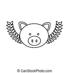 Mignon t te cochon dessin anim rigolote mignon - Dessin cochon mignon ...