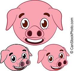 T te dessin anim cochon - Dessin cochon mignon ...