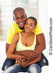 mignon, couple, africaine