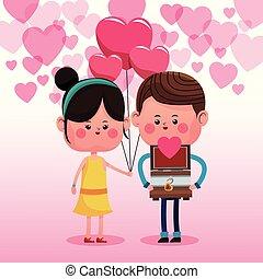 Mignon Couple Amour Mignon Amour Couple Illustration Vecteur