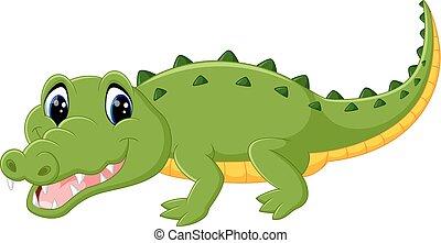 Mignon dessin anim crocodile mignon vecteur crocodile dessin anim ilustration - Dessin anime crocodile ...