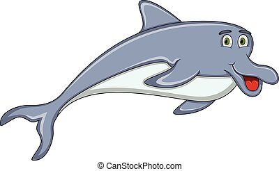 mignon, dauphin, dessin animé