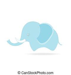 mignon, dessin, éléphant, thaïlande, mâle, dessin animé