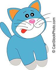 mignon, dessin animé, chaton