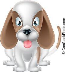 mignon, dessin animé, chien