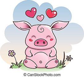 mignon symbole love cochon 2019 ann e nouveau dessin anim mignon horoscope chinois. Black Bedroom Furniture Sets. Home Design Ideas