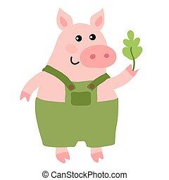 Mignon dessin anim cochon rigolote mignon basse cour - Dessin cochon mignon ...