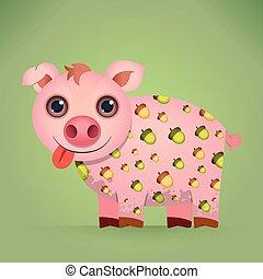 Mignon chemise vecto cochon dessin anim mignon - Dessin cochon mignon ...