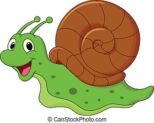 mignon, dessin animé, escargot