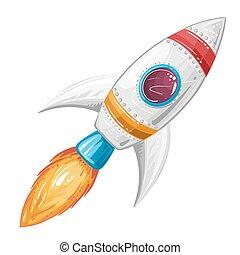 Bateau dessin anim fus e espace mignon fus e clipart vectoriel rechercher - Dessin vaisseau spatial ...