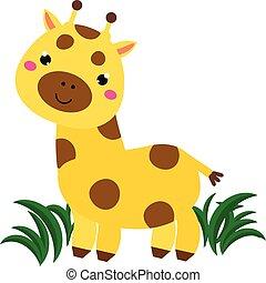 Girafe Dessin Anime Animal Girafe Caractere Dessin Anime