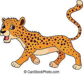 mignon, dessin animé, guépard