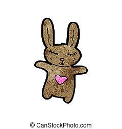 Mignon dessin anim lapin lapin vecteur mignon vecteur search clip art illustration - Lapin mignon dessin ...