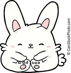Mignon dessin anim lapin lapin vecteur mignon ensemble lapins elements illustration - Lapin mignon dessin ...