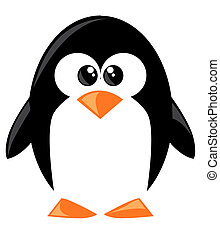 mignon, dessin animé, penguine
