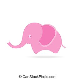 mignon, dessin, femme, éléphant, thaïlande, dessin animé