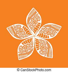 mignon, fleur, décoratif