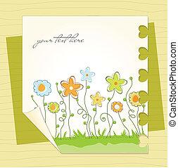 mignon, floral, fond