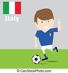 mignon, football, Italie, joueur