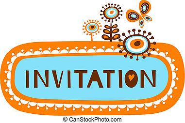 mignon, gabarit, invitation